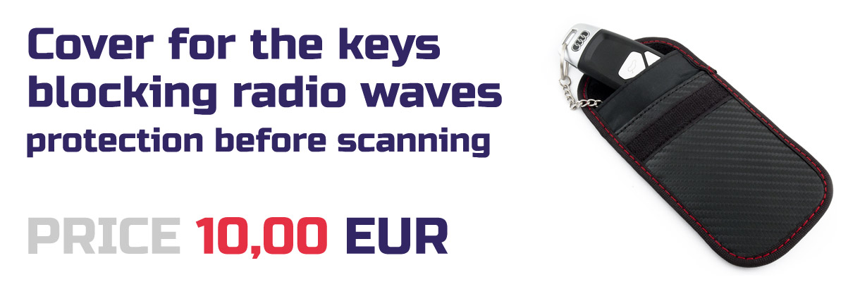 Cover for the keys blocking radio waves