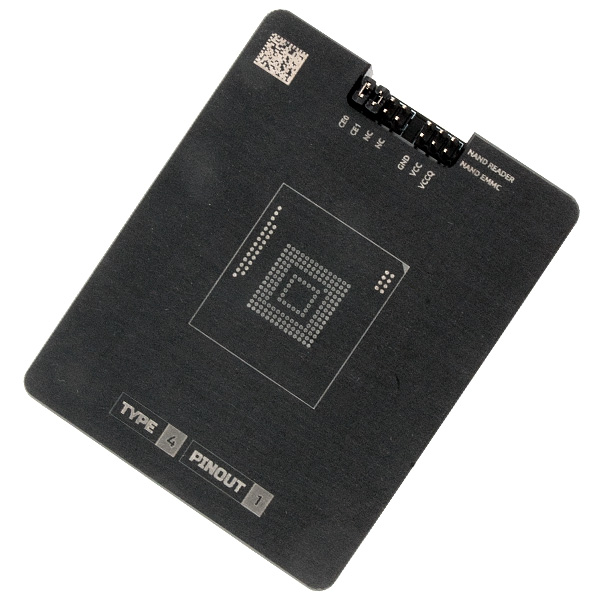 Socket for eMMC NAND adapter - MR TYPE 4 PINOUT 1