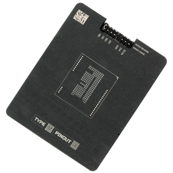Socket for eMMC NAND adapter - MR TYPE 12 PINOUT 1