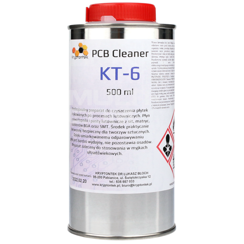 PCB CLEANER KT-6 cleaning agent after soldering